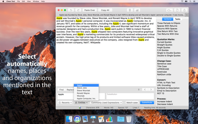 Clean Text for Mac | Apimac