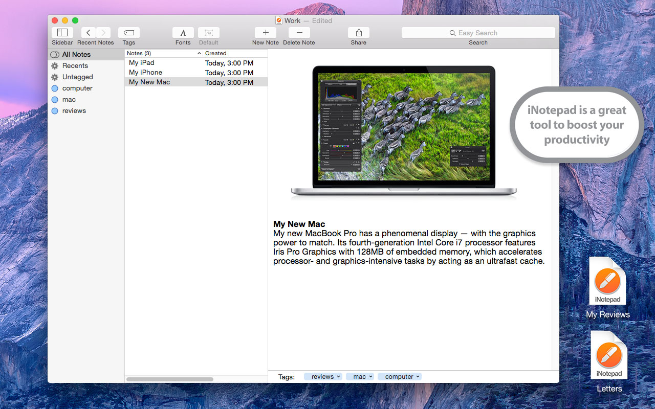 iNotepad for Mac