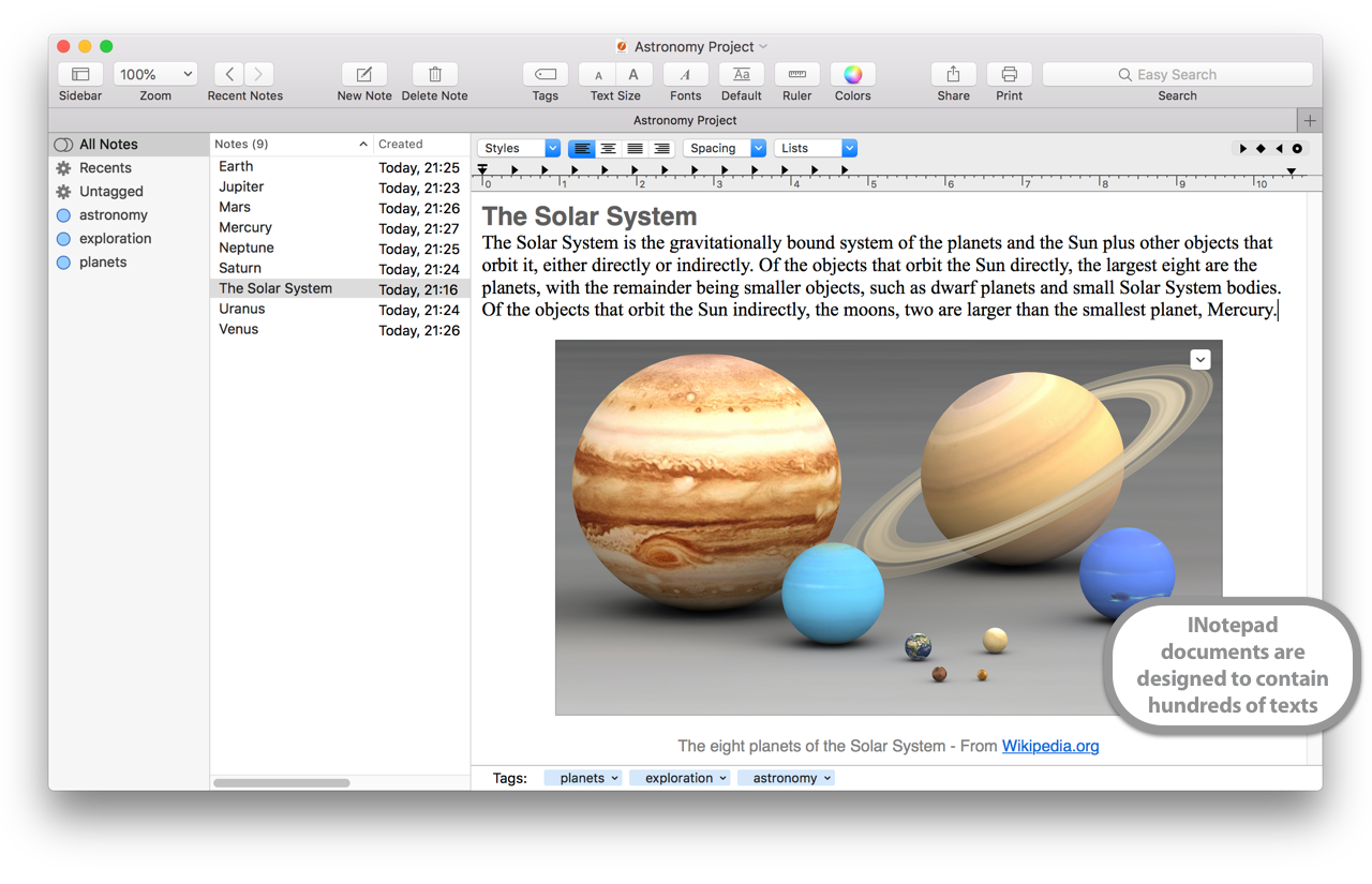 iNotepad Pro 5.4 Mac 破解版 优秀的笔记软件
