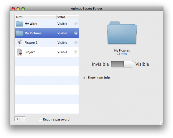 Secret Folder for Mac Screen Shot