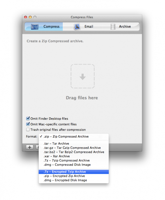 Compress Files for Mac Screen Shot