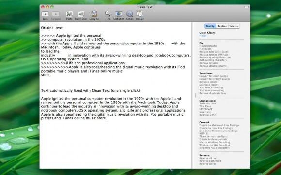 CleanText Screenshot