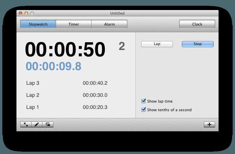Stopwatch app for mac