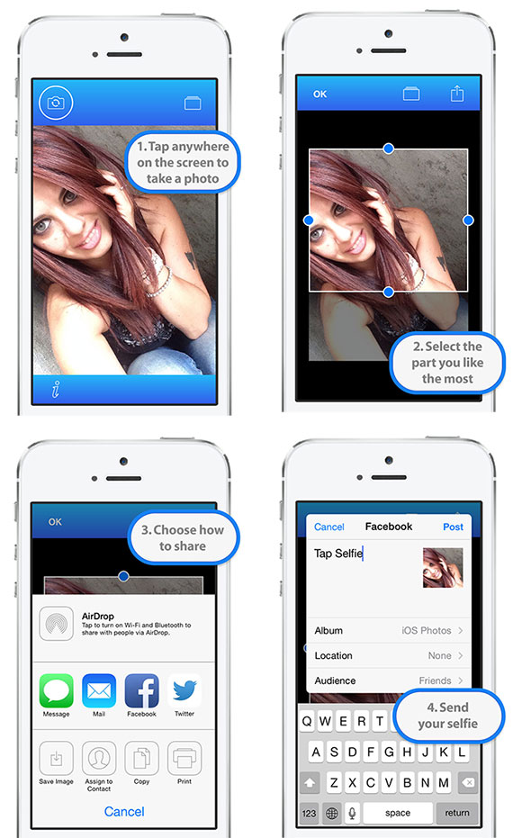 Tap Selfie for iPhone and iPad