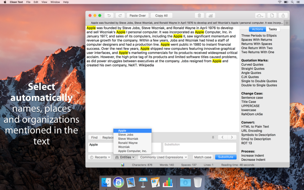 Clean Text for Mac